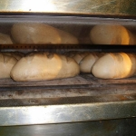 Brot beim backen