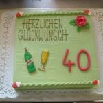 Geburtstagstorte vierzigster Nr.G7