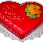 Geburtstagstorte rotes Herz Nr.G29