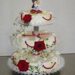 Hochzeitstorte 3. etagig mit Rosen Nr. H19