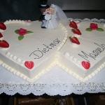 Hochzeitstorte Doppelherz Nr.H12