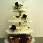 Hochzeitstorte schwarz-weiss Nr.H20
